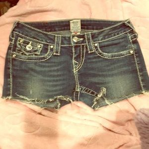True religion cut off Jean shorts
